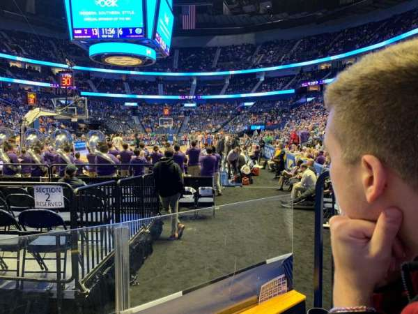 Bridgestone Arena, section: 112, row: DD, seat: 4