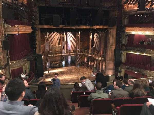 CIBC Theatre, section: Mezzanine Left, row: G, seat: 3