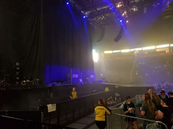 Manchester Arena, section: 102, row: C, seat: 12