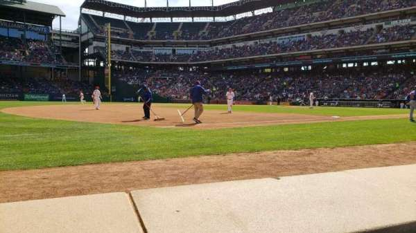 Globe Life Park in Arlington, section: Commissioners Box, row: 1, seat: 11