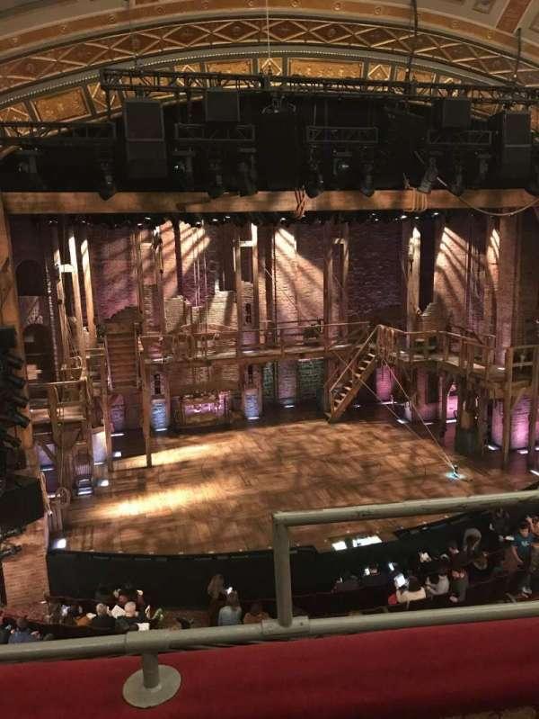 Richard Rodgers Theatre, section: Front Mezzanine, row: B, seat: 1