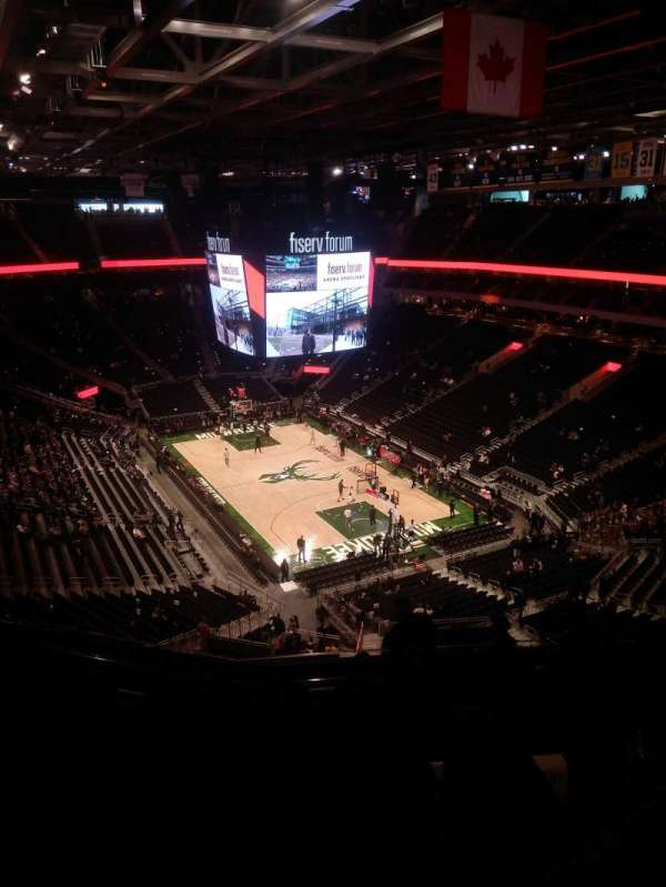 Fiserv Forum, section: 203, row: 9, seat: 10