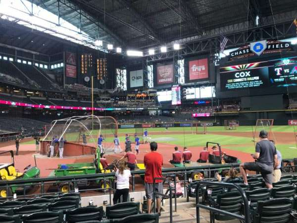 Chase Field, section: H, row: I, seat: 2