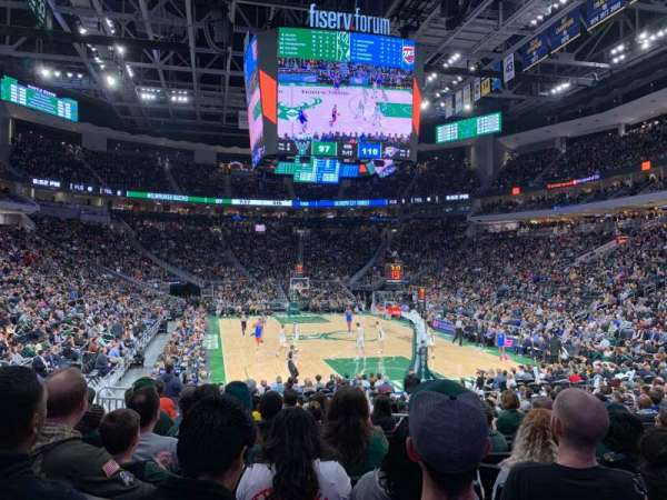 Fiserv Forum, section: 102, row: 13, seat: 7