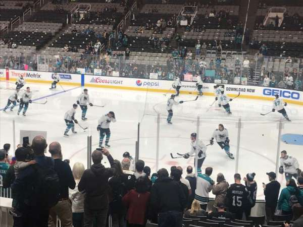 SAP Center, section: 127, row: 9, seat: 8