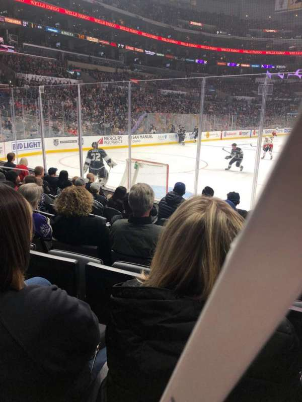 Staples Center, section: 106, row: 8, seat: 7