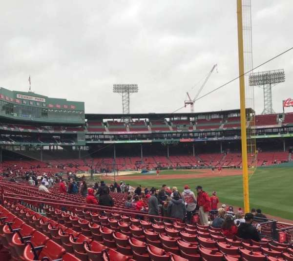 Fenway Park, section: Right Field Box 93, row: NN, seat: 3