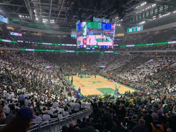 Fiserv Forum, section: 113, row: 26, seat: 20