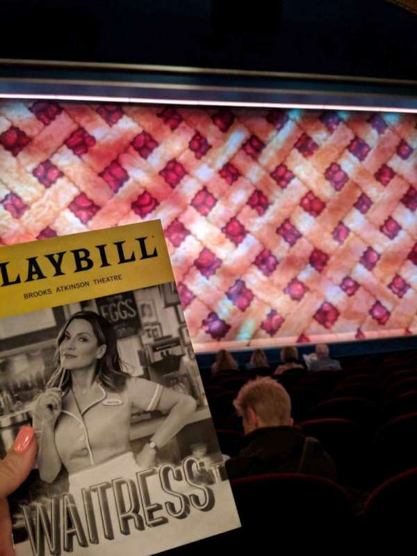 Brooks Atkinson Theatre, section: COrch, row: H, seat: 102