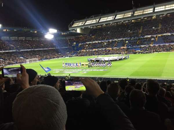 Stamford Bridge, section: West stand lower, row: 30, seat: 53