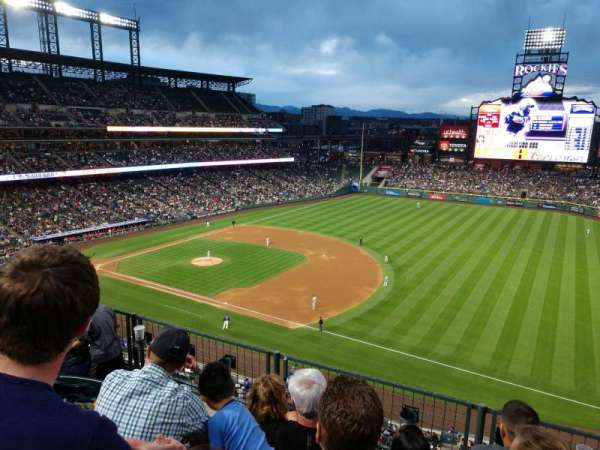 Coors Field, section: L318, row: 4, seat: 9