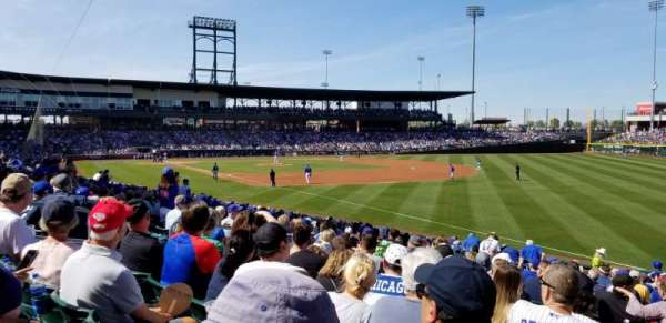 Sloan Park, section: 121, row: 23, seat: 9
