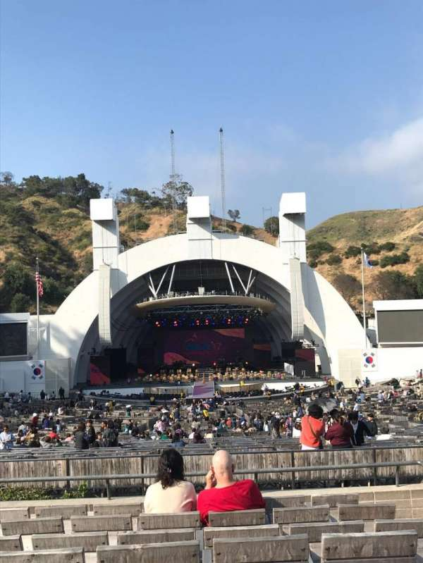 hollywood bowl, section: H, row: 8, seat: 106