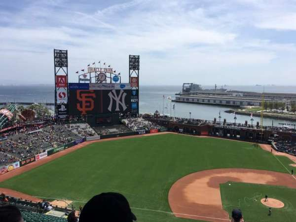 Oracle Park, section: VR324, row: 16, seat: 1