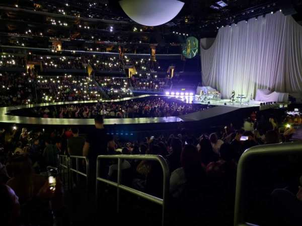 Staples Center, section: 101, row: 15, seat: 1