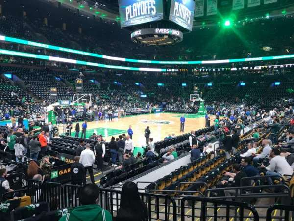 TD Garden, section: Loge 15, row: 9, seat: 2