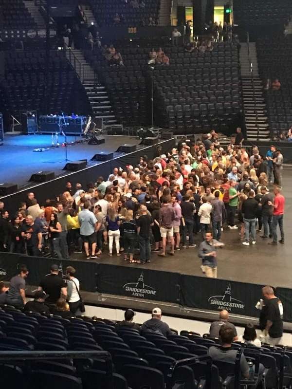 Bridgestone Arena, section: 115, row: FWC, seat: 14