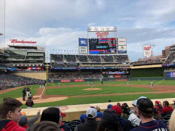Target Field, section: 6, row: 12, seat: 11