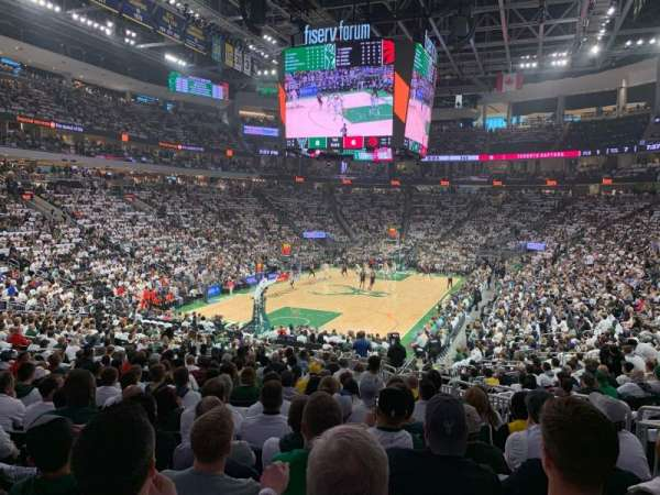 Fiserv Forum, section: 110, row: 22, seat: 6