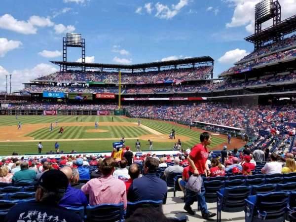 Citizens Bank Park, section: 130, row: 28, seat: 2