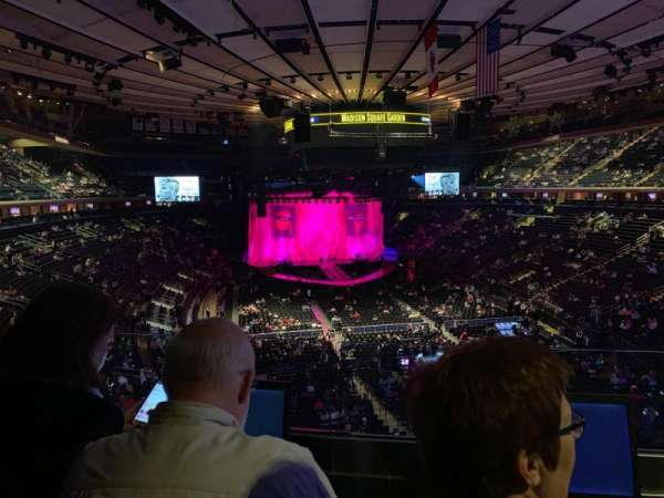 Madison Square Garden, section: 203, row: 2, seat: 7