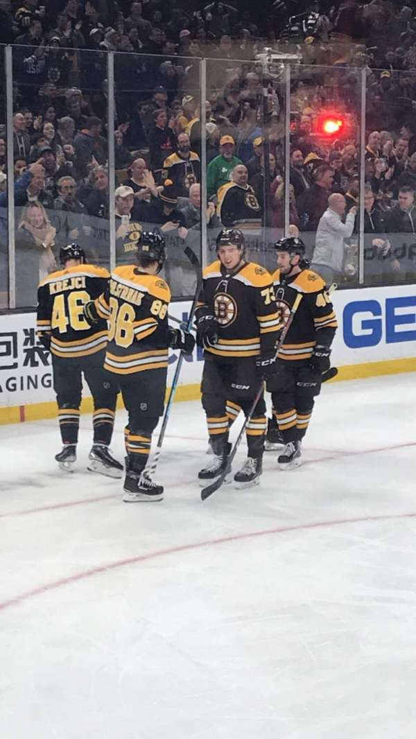 TD Garden, section: 14, row: 2, seat: 4
