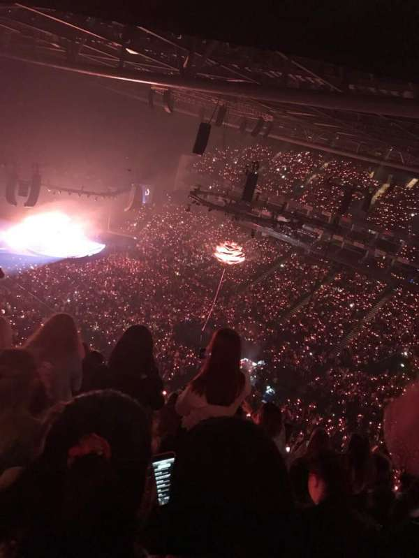 The O2 Arena, section: 407, row: P, seat: 604