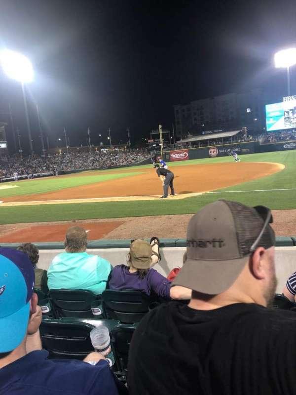 BB&T Ballpark (Charlotte), section: 105, row: D, seat: 5