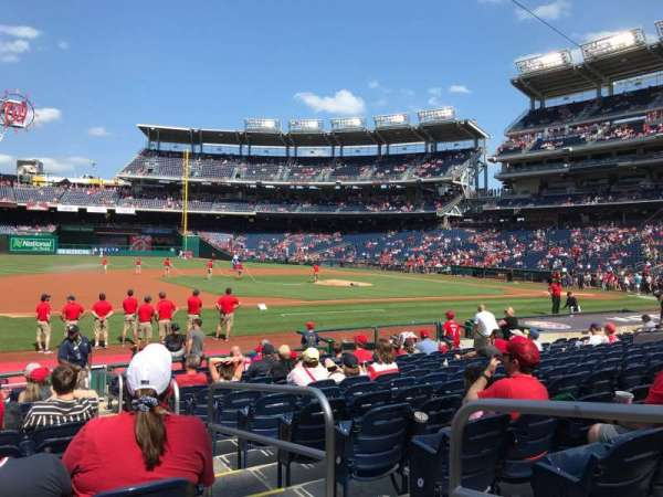 Nationals Park, section: 114, row: R, seat: 2