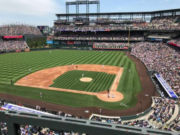 Coors Field, section: L334, row: 1, seat: 9