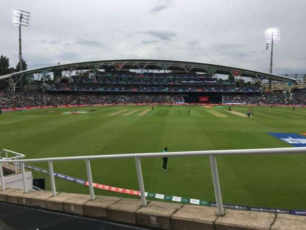 Kia Oval, section: Bedser Stand Upper, row: H, seat: 9
