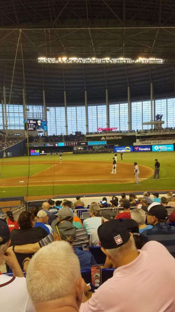 Marlins Park, section: 7, row: H, seat: 21