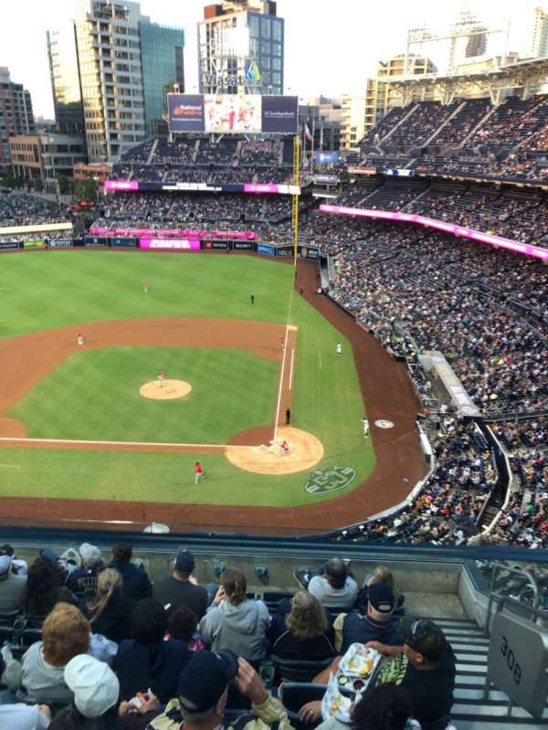 PETCO Park, section: 308, row: 7, seat: 3