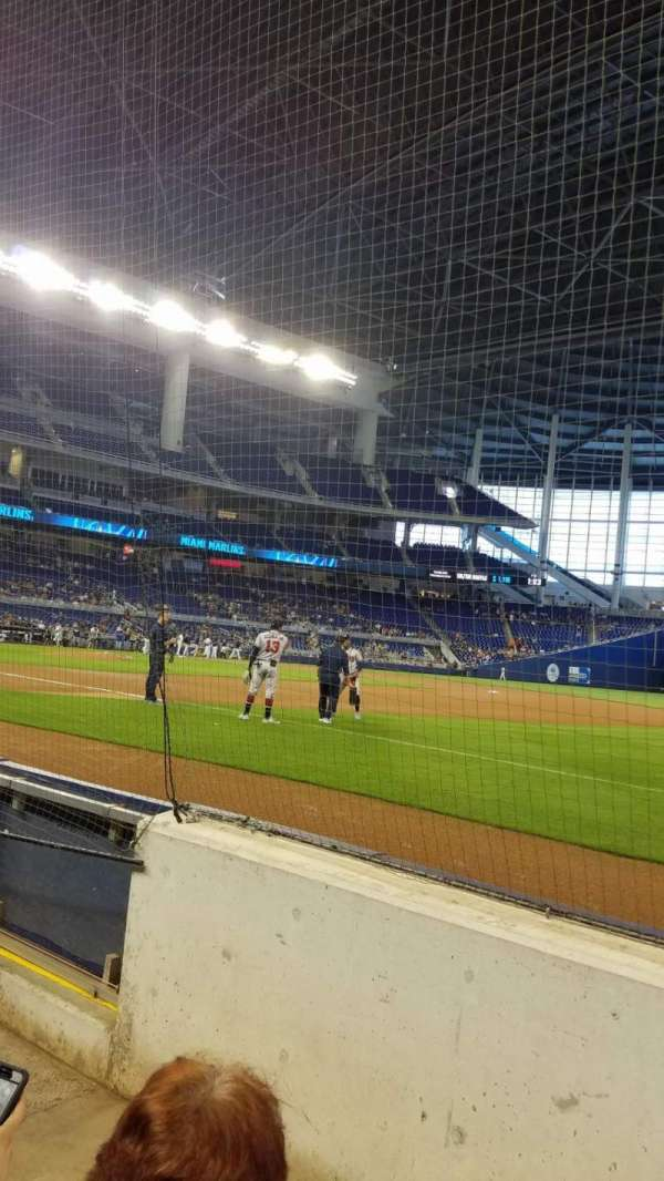 Marlins Park, section: FL1, row: BB, seat: 8