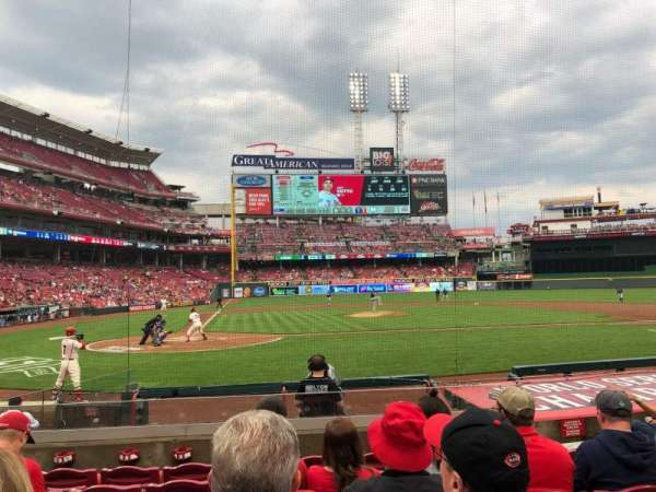 Great American Ball Park, section: 127, row: L, seat: 5