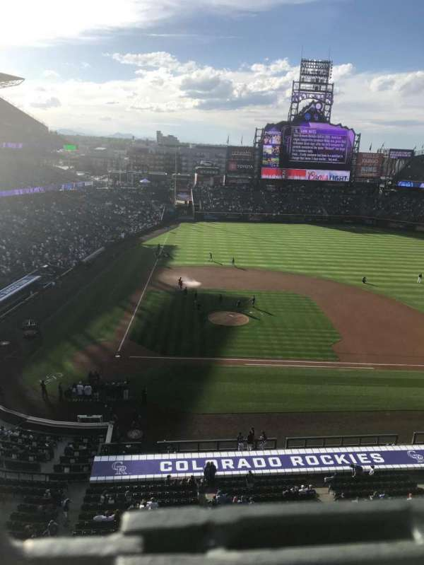 Coors Field, section: L325, row: 1, seat: 18