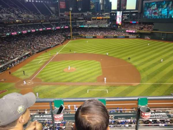Chase Field, section: 310, row: 2, seat: 8