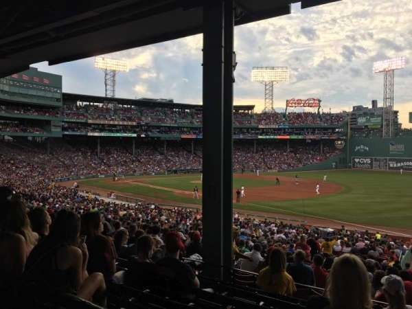 Fenway Park, section: Infield Grandstand 11, row: 7, seat: 1
