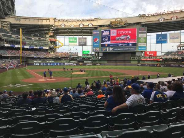 Miller Park, section: 116, row: 18, seat: 14