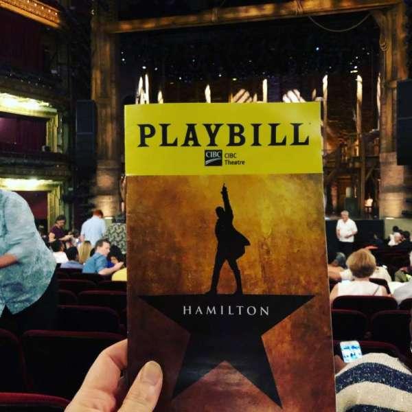 CIBC Theatre, section: Orchestra R, row: V, seat: 113