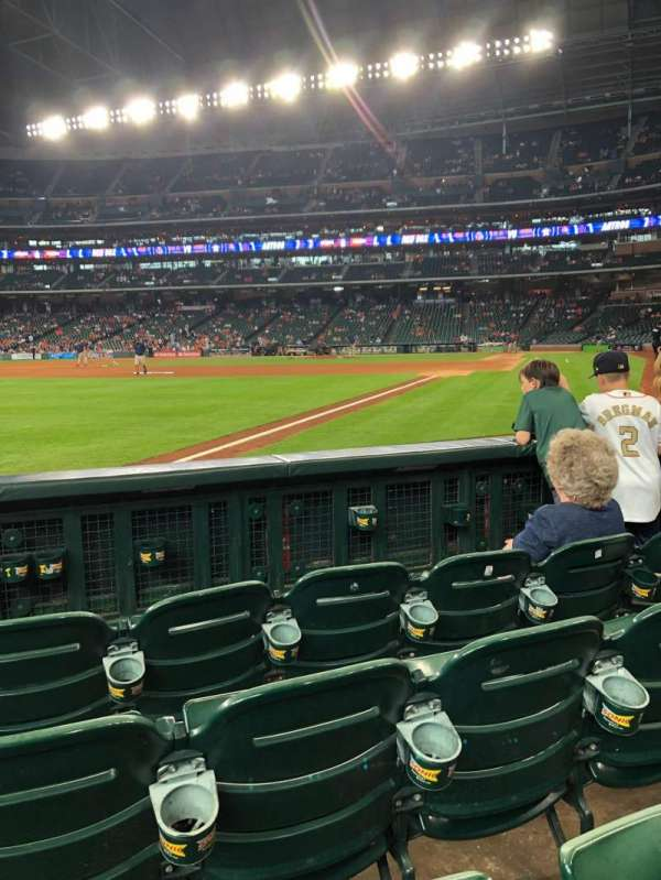 Minute Maid Park, section: 108, row: 4, seat: 4
