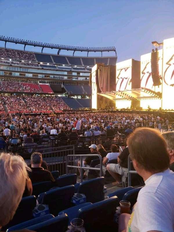 Gillette Stadium, section: 132, row: 7, seat: 4