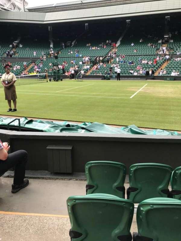 Wimbledon, Centre Court, section: 111, row: D, seat: 18