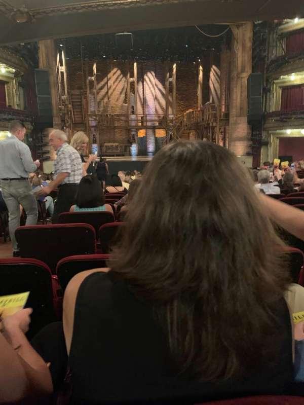 CIBC Theatre, section: Orchestra C, row: W, seat: 105