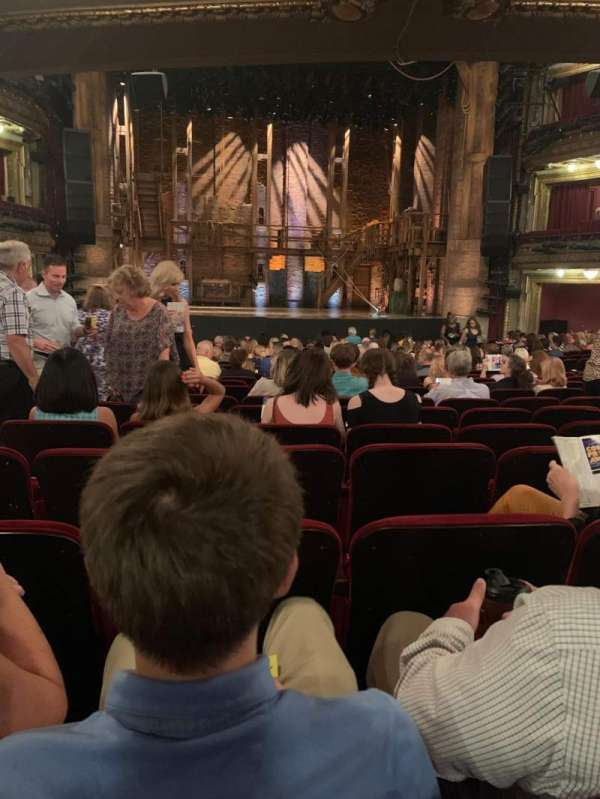 CIBC Theatre, section: Orchestra C, row: W, seat: 106
