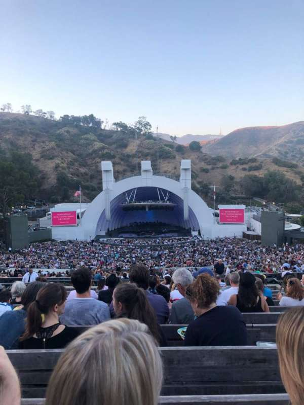 Hollywood Bowl, section: M1, row: 14, seat: 23