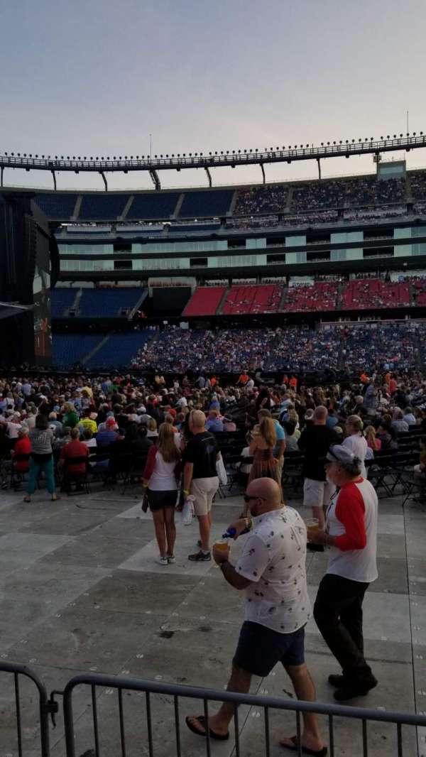 Gillette Stadium, section: 110, row: 1, seat: 5