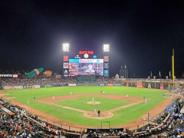 Oracle Park, section: 216, row: B, seat: 8