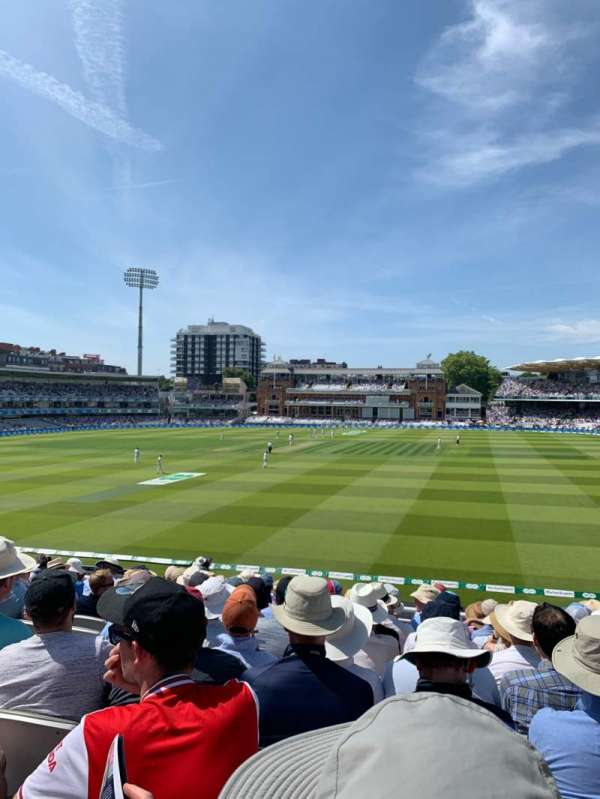 Lord's Cricket Ground, section: Upper Compton Stand, row: K, seat: 123