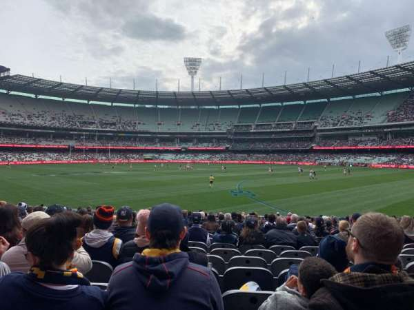 Melbourne Cricket Ground, section: M11, row: V, seat: 11